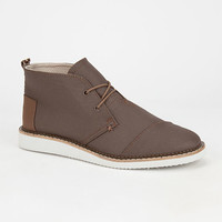 Toms Mateo Mens Chukka Boots Dark Earth  In Sizes