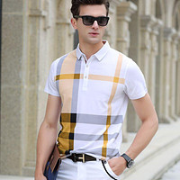 Summer polo shirt men high quality brand clothing short sleeve cotton business casual breathable homme camisa plus size XXXL