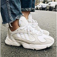 Adidas YUNG-1 Fashion New Sports Leisure Women Men Running Shoes White