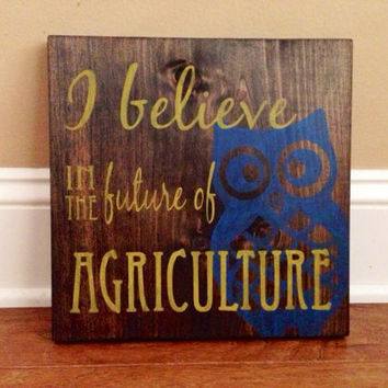 I Believe in the Future of Agriculture Custom Wood Sign, Stained and Hand Painted, Farm decor, Country decor, FFA decor, Farming signs