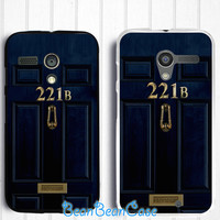 Sherlock 221b door case for iPhone 6/4s/5/5s/5c, Samsung S5/Note4, Sony, LG Nexus, Nokia Lumia, HTC One M7/M8, Moto X Moto G(E64)