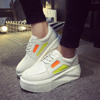 On Sale Hot Sale Stylish Comfort Hot Deal Casual Summer Korean Square Toe Thick Crust Shoes Sneakers [9257018060]