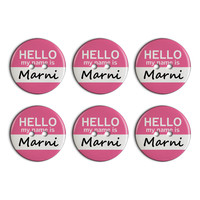 Marni Hello My Name Is Plastic Resin Button Set of 6