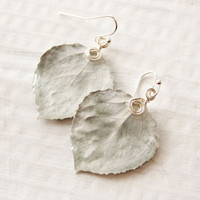 Silver Aspen Leaf Earrings, Nature Earrings, Bridesmaid Jewelry