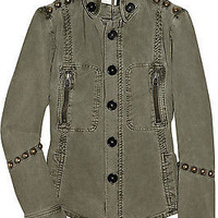 Zadig & Voltaire Lorie Studded Military Jacket M