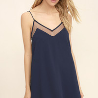 Go for Bold Navy Blue Slip Dress