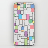 Pastel Stone Wall iPhone & iPod Skin by The Information | Society6
