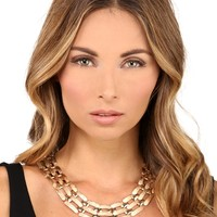 Gold Angel Dust Collar Necklace