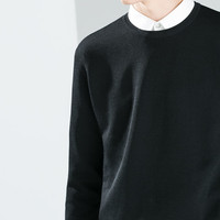 Technical fabric sweater