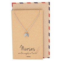 Dina Nurse Jewelry with Angel Wings Pendant
