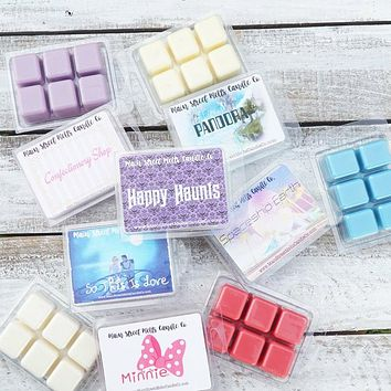 4 Disney Melts You Pick 4 Soy Wax Melts Pack Disney Inspired Candle Melt Natural Soy Wax Main Street Melts Candle Co Variety Tarts Scents