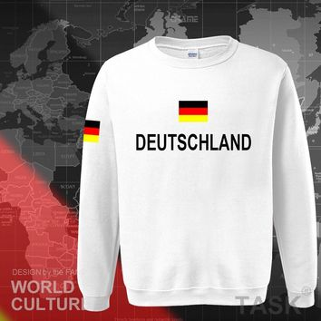 Germany Deutschland cotton German hoodies men sweatshirt polo sweat new hip hop streetwear top jerseys tracksuit nation 2017 DE