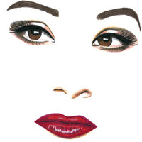 beautiful latin womans face original drawing mexican girl pencil brown eyes red lips makeup ethnic beauty artwork modern facial expressions