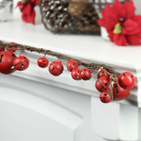 Rustic Red Sleigh Bell Garland - Table/Shelf Decorations - Christmas and Winter - Holiday Crafts