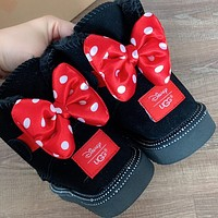 """UGG"" Women male children bow Fashion Wool Snow Boots"