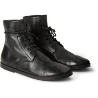 Marsell - Textured-Leather Lace-Up Boots | MR PORTER