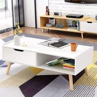 Modern Coffee Table Side End Table Cabinet