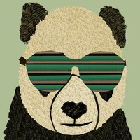 """panda cool"" - Art Print by brian buckley"