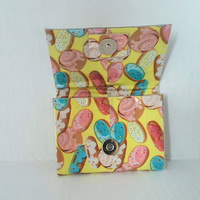Small Coin Purse, Donut Print Duct Tape Wallet, Business Card Holder, Gift Card Holder, Credit Card Holder Wallet, Unique Stocking Stuffer