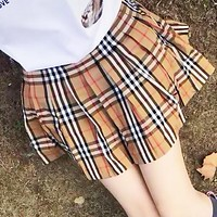 BURBERRY Summer Hot Sale Women Classic Plaid Short Skirt