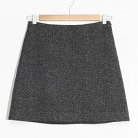 & Other Stories | A-Line Mini Skirt | Dark Grey