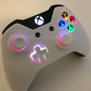 Xbox One controller underglow LED installation