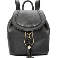 LOVE POWER SMALL LEATHER BACKPACK