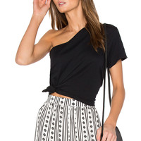 Steele Escape Tie Tee in Black | REVOLVE