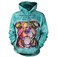 The Mountain PIT BULL SMILE HOODIE Dean Russo Pitbull Rescue Dog Face S-2XL NEW