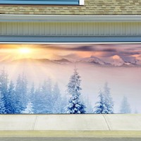 Christmas Garage Door Cover Banners 3d Holiday Outside Decorations Outdoor Decor for Garage Door G68