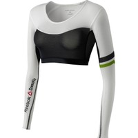 Reebok Women's CrossFit Shadow Compression Long Sleeve Cropped Shirt
