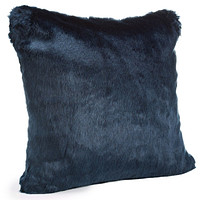 Steel Blue Mink Faux Fur Pillows by Fabulous Furs