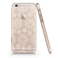 Moon And Sun Pattern Clear Transparent Plastic Phone Case for iphone 6 6s_ SUPERTRAMPshop