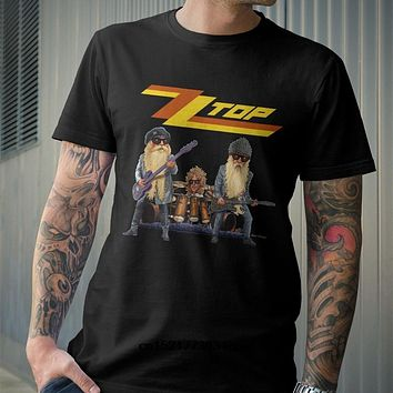 Men T shirt Classic ZZ Top Rock Band funny t shirt novelty tshirt women|T-Shirts