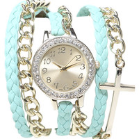 Cross Wrap Watch | Shop Jewelry at Wet Seal