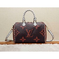 LV hot seller of fashionable ladies' casual printed shopping shoulder bag Coffee