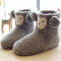 Grey Sheep Flat Ankle Boots