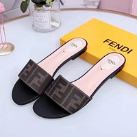 FENDI Flat bottom Slipper-5