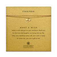 friends dragonfly tobacco silk necklace, gold dipped - Dogeared
