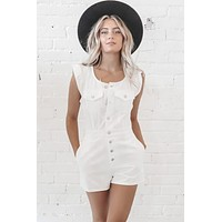 Hey Tough Guy Button Down Romper