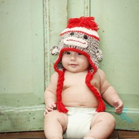 Sock Monkey Hat on Luulla