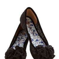 ModCloth Charming Melody Flat in Black
