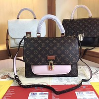 LV Women Leather Shoulder Bags Satchel Tote Bag Handbag Shopping Leather Tote Crossbody Satchel