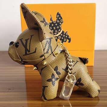 Louis Vuitton's adorable dog bag charm and key holder Brown