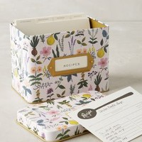 Rifle Paper Co. Spring Garden Recipe Tin in Lilac Size: One Size Books