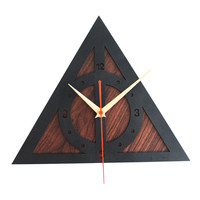 """Wall Clock Retro Home Decor Watch Modern Art Time Harry Potter The Deathly  12"""""""