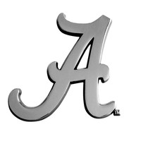 Alabama Crimson Tide NCAA Chrome Car Emblem (2.3in x 3.7in)