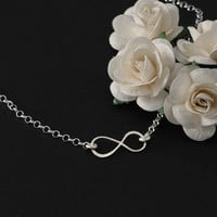 Infinity Necklace - Solid Sterling Silver .925