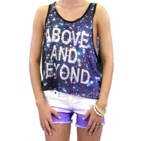 Above And Beyond Infinity Galaxy Space Shirt