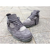 KAWS X Air Jordan 4 Cool Grey Sneaker Shoes 36-47